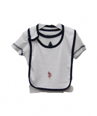 USPA Baby Boy 4 Piece Layette Set [White]