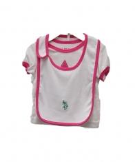 USPA Baby Girl 4 Piece Layette Set [White]